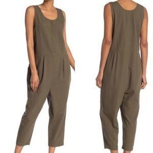 Eileen Fisher Organic Cotton Linen Jumpsuit Small